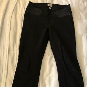 JCrew Maternity Toothpick Black Jeans